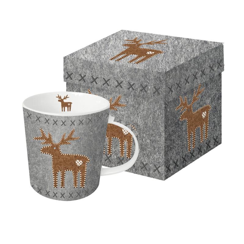 Paperproducts Design Кружка в подарочной упаковке felt reindeer 350 мл