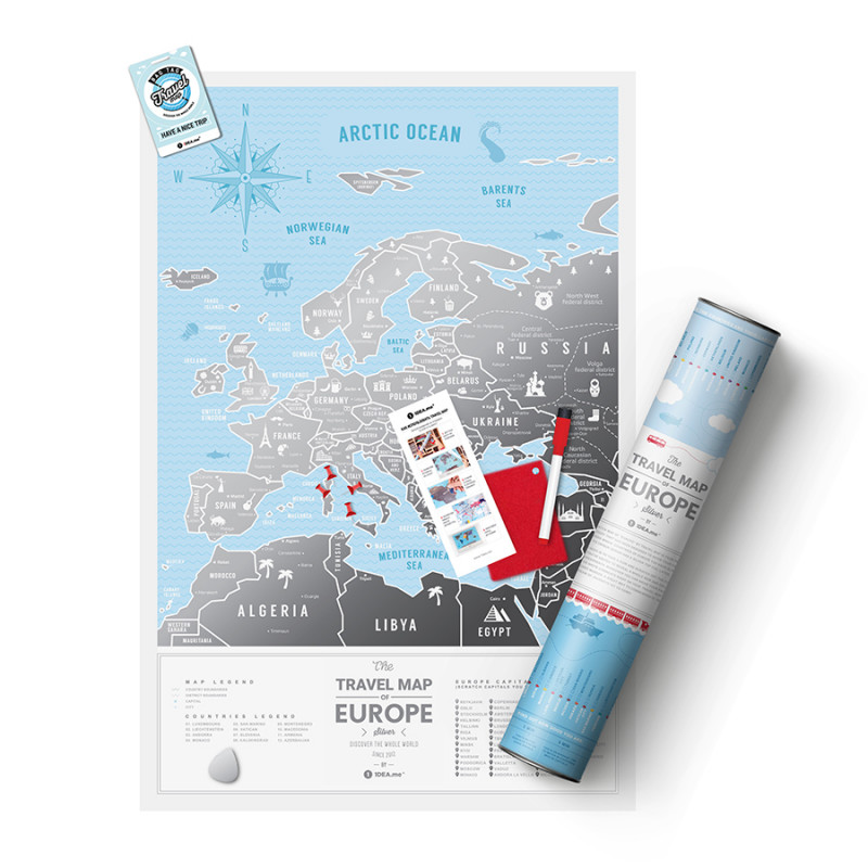 1DEA.me Карта travel map silver europe