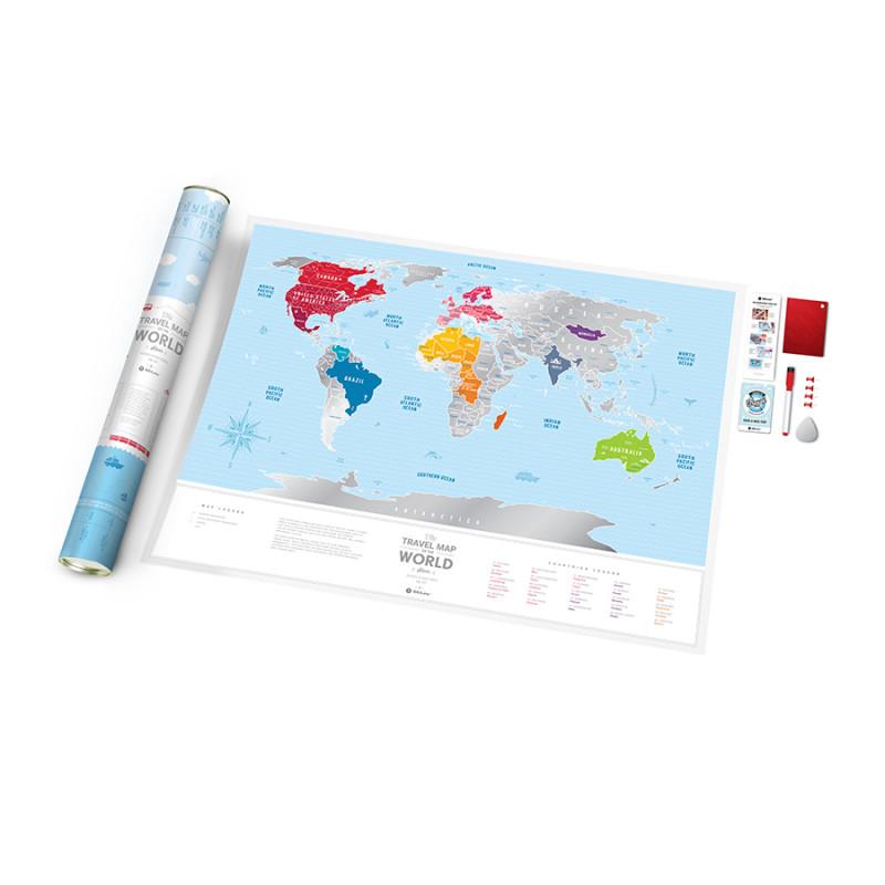 1DEA.me Карта travel map silver world