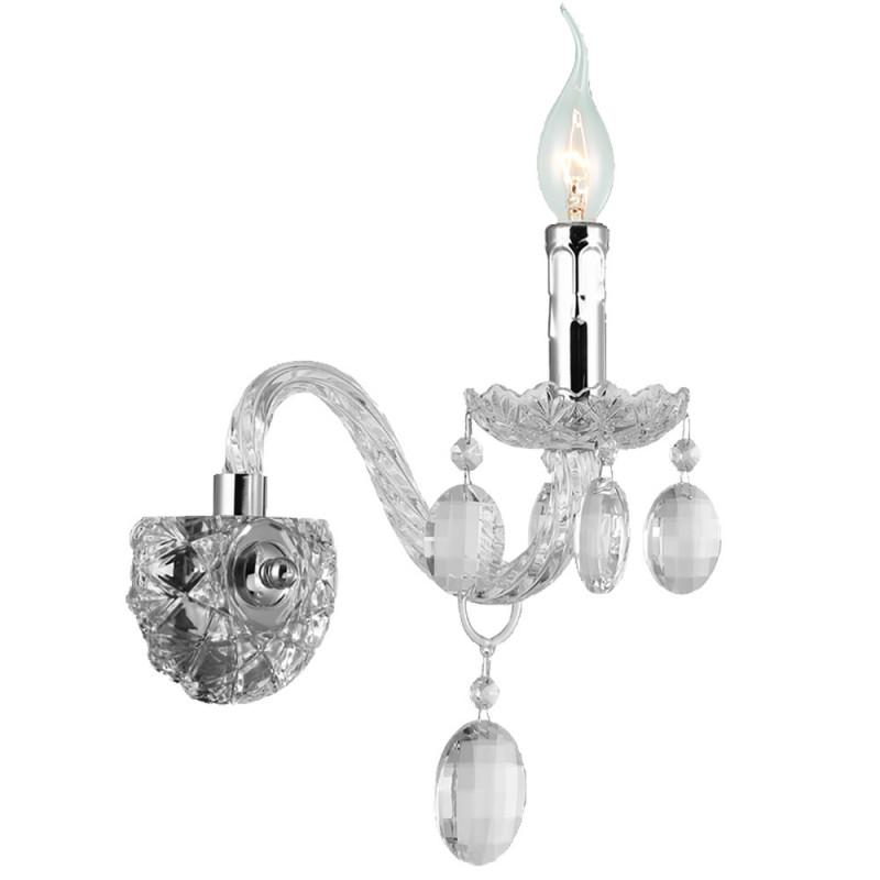 Benetti Бра BENETTI Crystal Limpido цвет хром, 1xE14, коллекция CRL-001 бра benetti crystal limpido золото 1xe14 коллекция crl 001