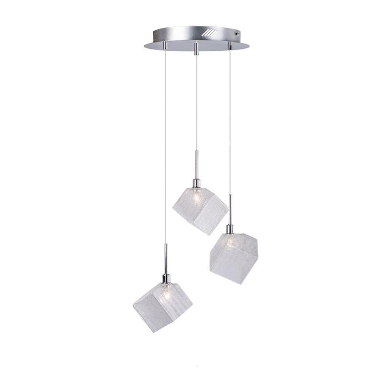 Benetti Cветильник BENETTI Modern Kubo подвесной хром, 3хG9, коллекция MOD-031 подвесной светильник benetti mod 023 9600 01 p