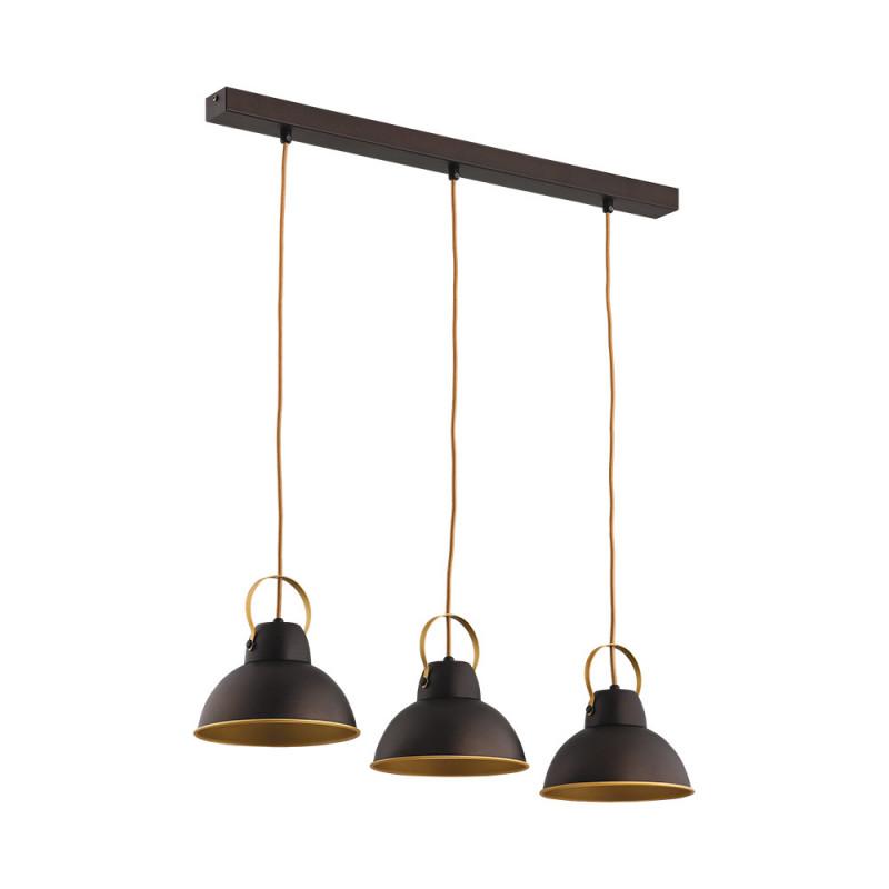 Benetti Светильник BENETTI Modern Loft темный венге/золото, 3xE27, коллекция MOD-411 подвесной светильник benetti mod 023 9600 01 p