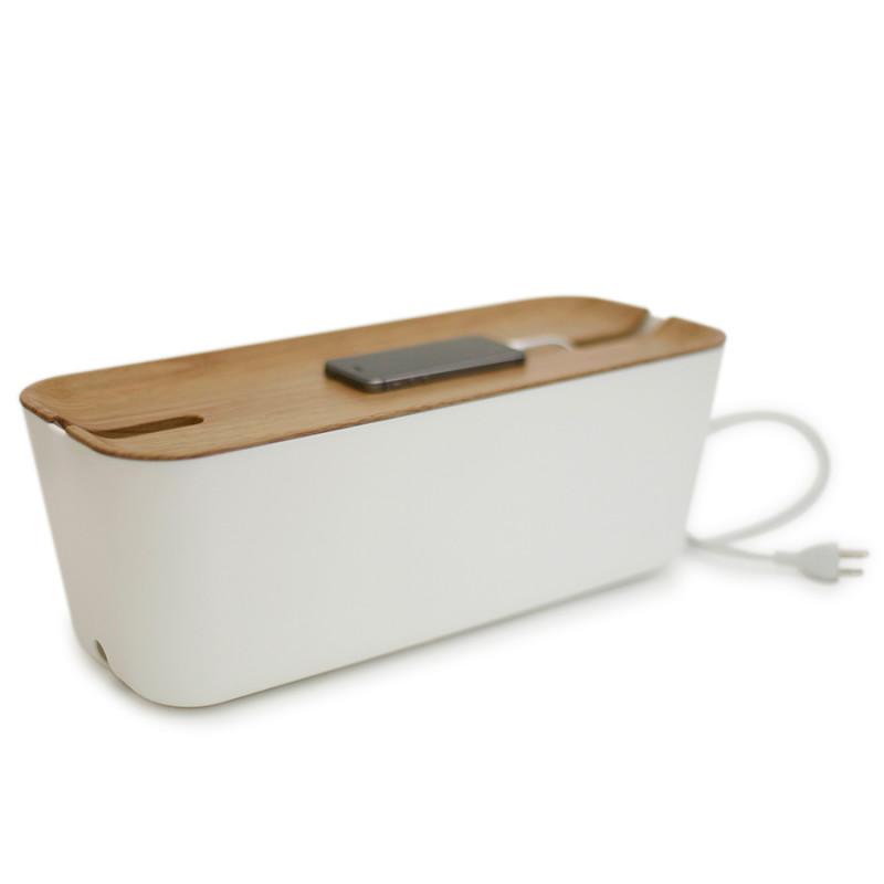 Bosign Органайзер для проводов hideaway большой белый-коричневый bosign