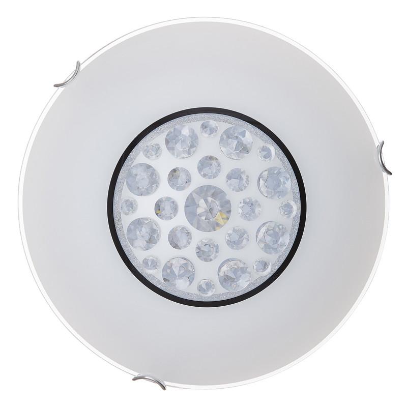 Sonex 128/CL SN18 000 хром/белый/декор хрусталь Н/п светильник LED 28W 220V LAKRIMA настенно потолочный светодиодный светильник sonex lakrima 128 cl