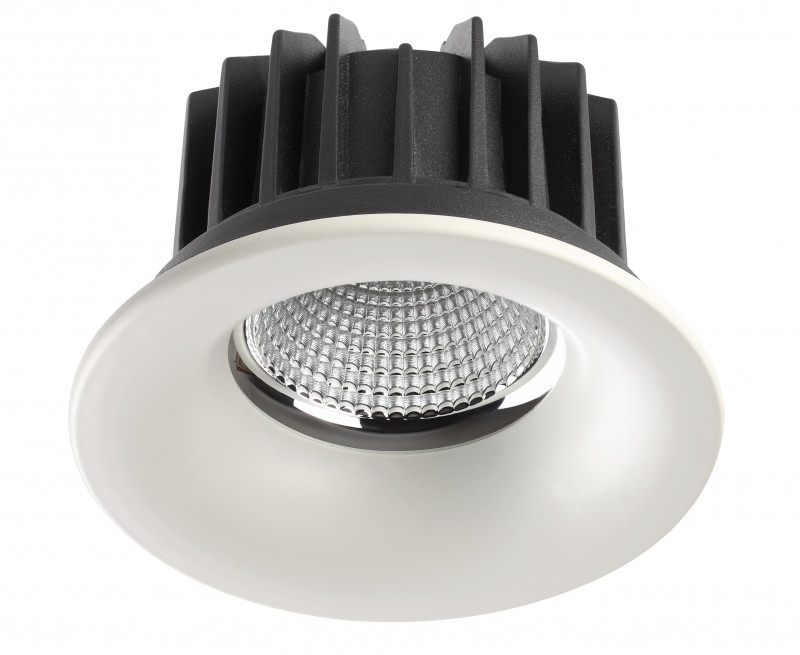 Фото Novotech 357602 NT18 000 белый Встраиваемый светодиодный светильник 10W 100-265V DRUM. Купить с доставкой