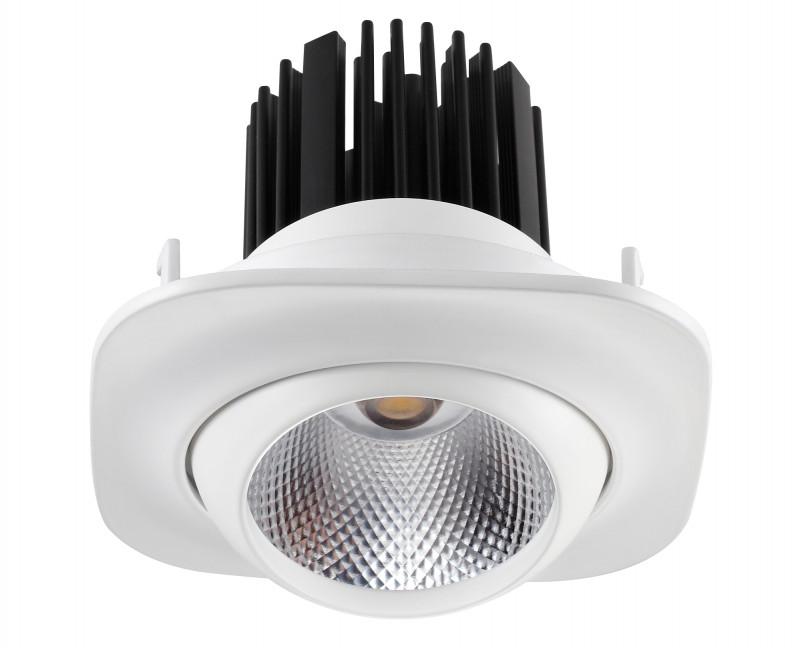 Novotech 357696 NT18 000 белый Встраиваемый светильник IP20  COB 10W 160-265V DRUM джон дэвисон рокфеллер как я нажил 500 000 000 мемуары миллиардера