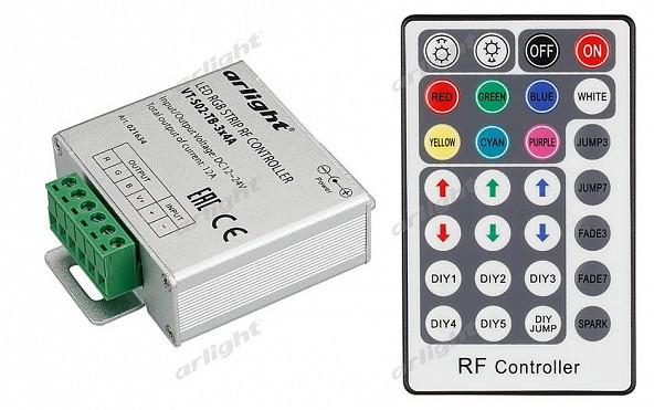 Arlight Контроллер VT-S02-TB-3x4A (12-24V, ПДУ 28 кн, RF)