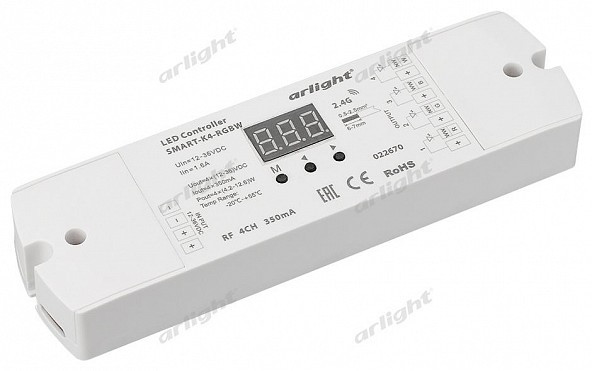 Arlight Контроллер тока SMART-K4-RGBW (12-36V, 4x350mA) каркас для ванны cersanit smart сборочный пакет k rw smart 170