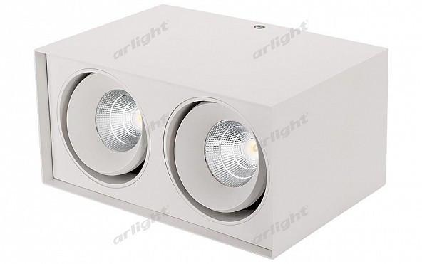 Фото Arlight Светильник SP-CUBUS-S100x200WH-2x11W Warm White 40deg. Купить с доставкой