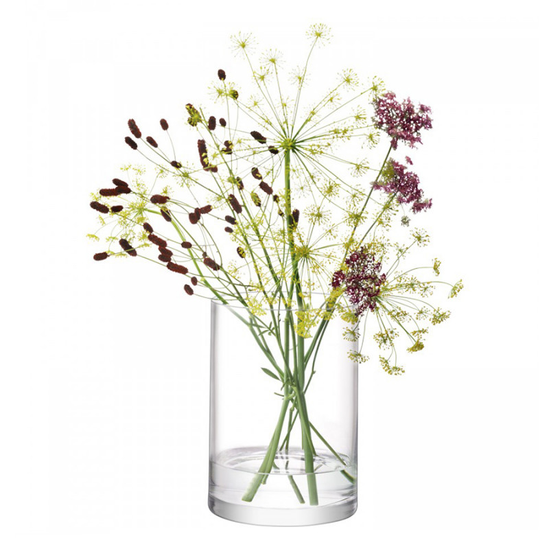 LSA Ваза цилиндрическая column 24 см decotech ваза doriane 24 см