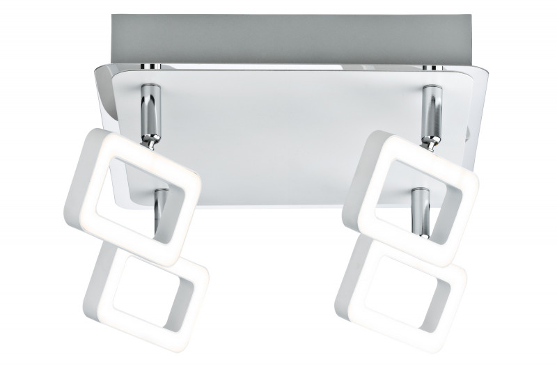 Paulmann SL Frame 4x5W Wei? matt/Chr 230V Mt paulmann fenno tischl max1x20w grau 230v beton