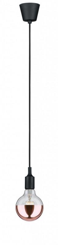 Paulmann Pendel E27 2m Stoffkabel max1x20W Sw Sil paulmann fenno tischl max1x20w grau 230v beton