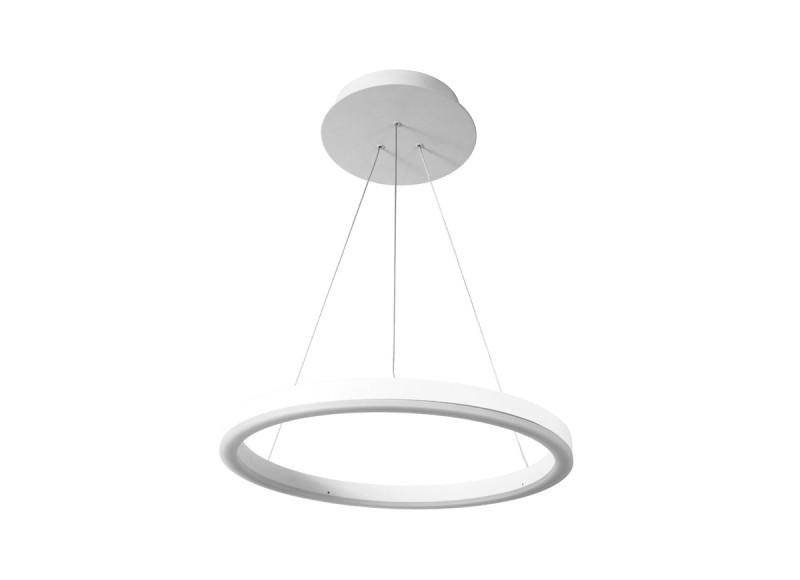 цена на Donolux Donolux Светодиодный светильник, подвесной. АС100-240В 24W, 3000K, 1330 LM. Белый, H1500, D450мм,+и