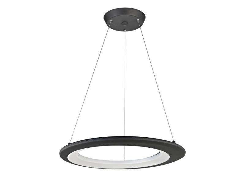 Фото Donolux Donolux Светодиодный светильник, подвесной. АС100-240В  45W, 3000K, 2340 LM, Черный, D650мм, H1200 м. Купить с доставкой