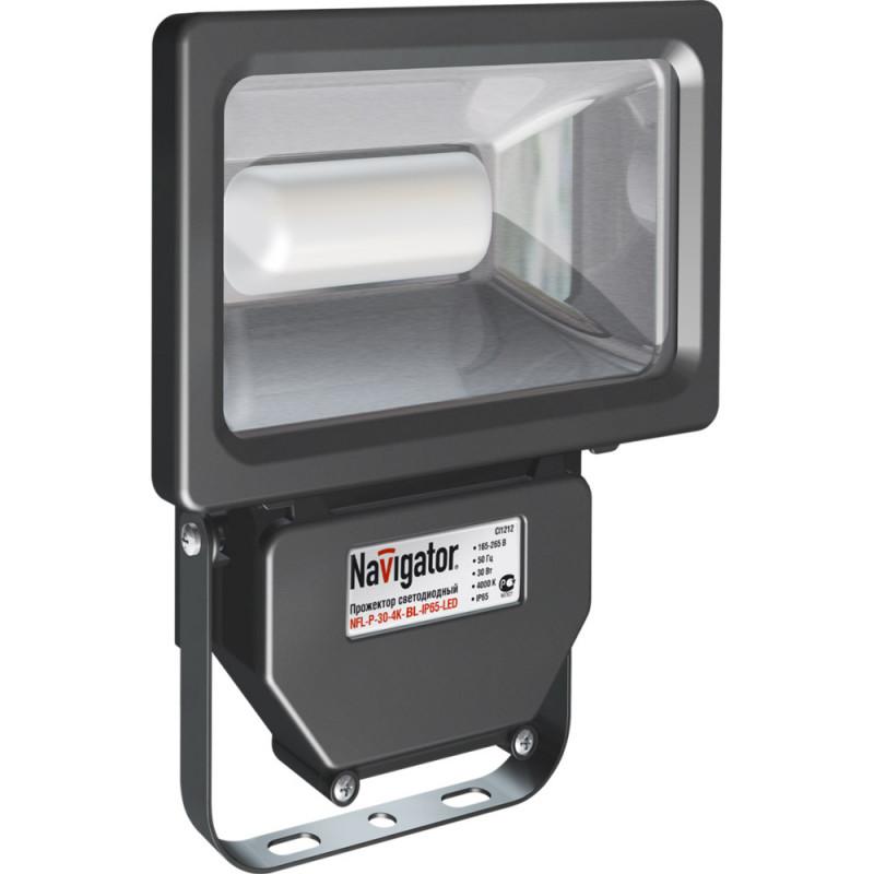 Navigator Светильник Navigator 94 630 NFL-P-30-4K-BL-IP65-LED (аналог ИО 300 Вт) XXX люстра navigator 94 608 nfl sh1 150 r7s wh