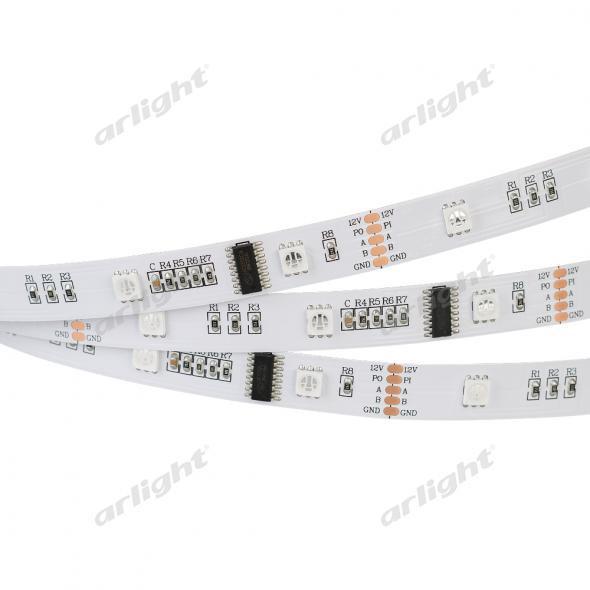 Arlight Лента DMX-5000 12V RGB (5060, 150 LEDx3) лента arlight 019083