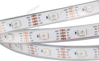 Arlight Лента 5 метров SPI 2-5000P 5V RGB (5060, 150 LED x1, 2813) лента arlight 014414