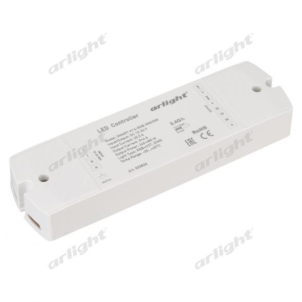 Arlight Контроллер SMART-K14-RGB-WW/DW (12-24V, 5x4A) каркас для ванны cersanit smart сборочный пакет k rw smart 170