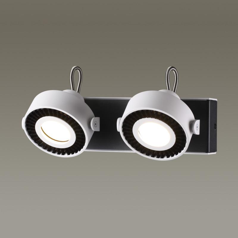 Odeon Light 3490/2W ODL18 093 белый с черным Настенный светильник IP20 GU10 2*50W 220V SATELIUM чехол для карточек авокадо дк2017 093