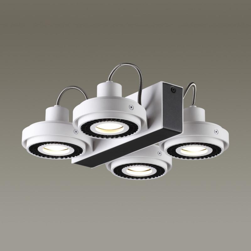 Odeon Light 3490/4C ODL18 094 белый с черным Потолочный светильник IP20 GU10 4*50W 220V SATELIUM