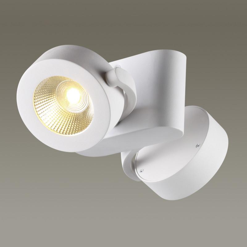 Фото Odeon Light 3493/20CL ODL18 101 матовый белый Потолочный светильник IP20 LED 3000K 2*10W 1600Лм 220V PUMAVI. Купить с доставкой