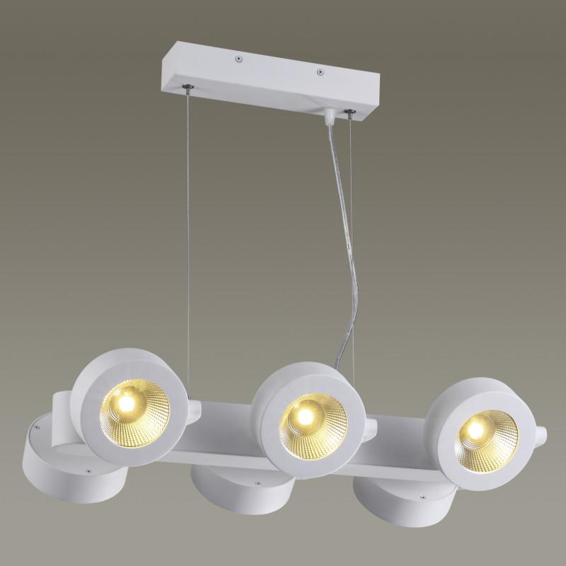 Odeon Light 3493/60L ODL18 101 матовый белый Подвесной светильник IP20 LED 3000K 6*10W 4500Лм 220V PUMAVI бензиновая виброплита калибр бвп 20 4500