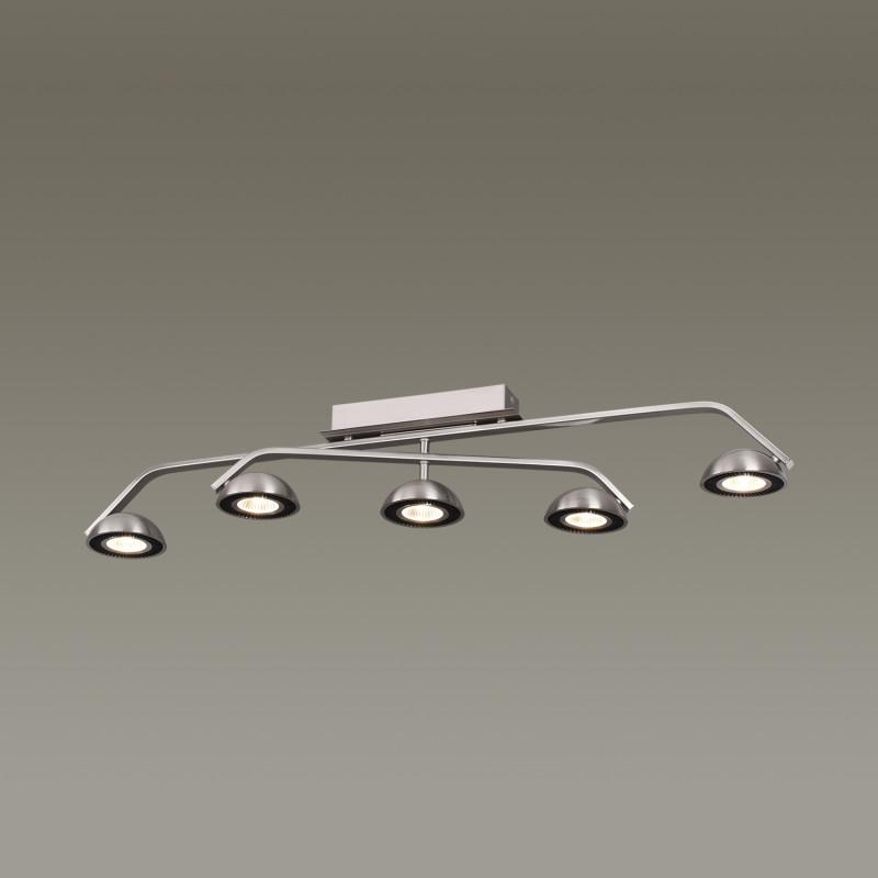 Odeon Light 3535/5CL ODL18 082 матовый никель Потолочный светильник IP20 LED 3000K 5*7W 2520Лм 220V KARIMA мультиварка philips hd4731 03