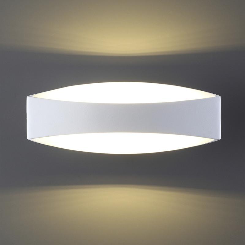 Фото Odeon Light 3540/6LW ODL18 104 белый Настенный светильник IP20 LED 3000K 6W 600Лм 220V MIRSO. Купить с доставкой