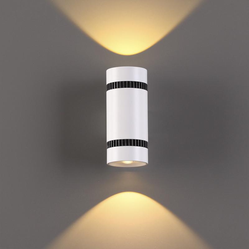 Фото Odeon Light 3545/10LW ODL18 107 белый с черным Настенный светильник IP20 LED 3000K 10W 1000Лм 220V BINOLED. Купить с доставкой