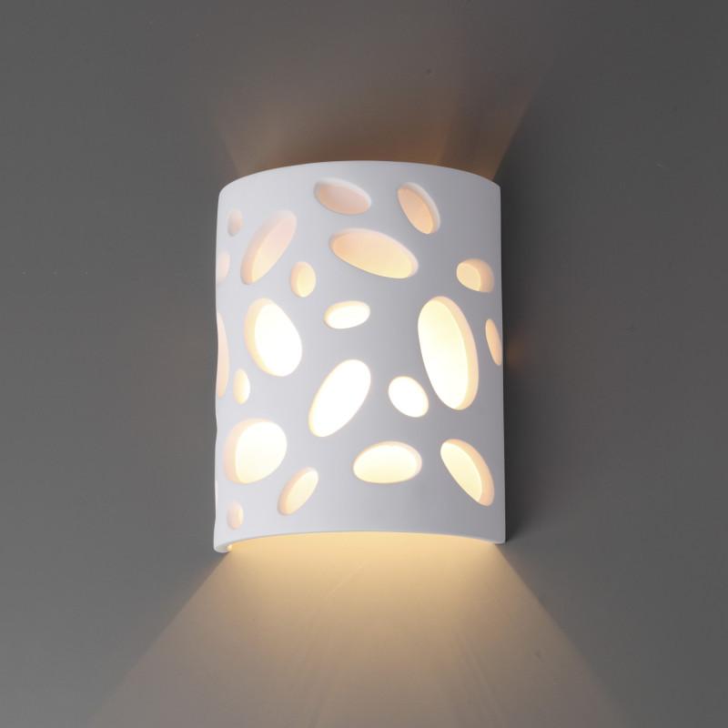 Odeon Light 3549/1W ODL18 000 белый гипсовый Настенный светильник IP20 G9 40W 220V GIPS миникарта орел 1 12 000 1 18 000