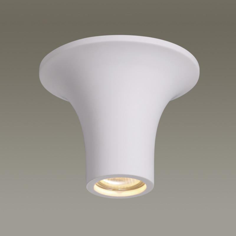 Odeon Light 3552/1C ODL18 000 белый гипсовый Потолочный накладной светильник IP20 GU10 35W 220V GIPS odeon light потолочный светильник odeon light gesso 3552 1c