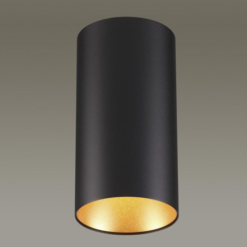 Odeon Light 3555/1C ODL18 125 черный с золотом Потолочный накладной светильник IP20 GU10 50W 220V PRODY odeon light потолочный светильник odeon light prody 3557 1c
