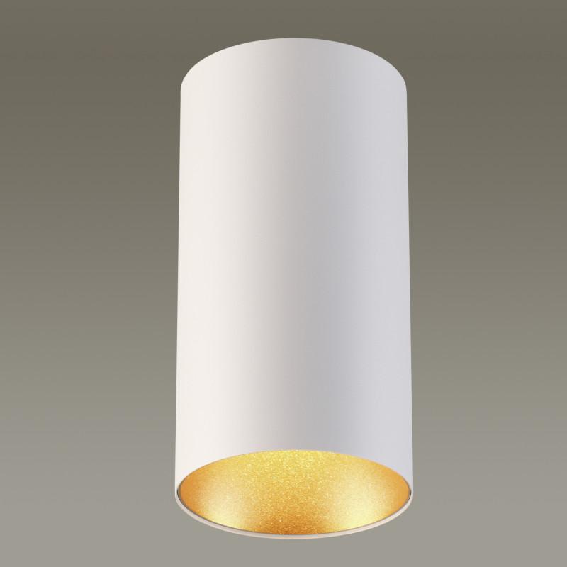 Odeon Light 3556/1C ODL18 125 белый с золотом Потолочный накладной светильник IP20 GU10 50W 220V PRODY odeon light потолочный светильник odeon light prody 3557 1c