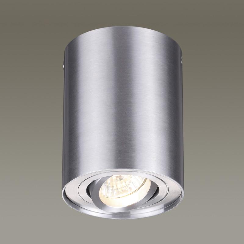Odeon Light 3563/1C ODL18 115 матовый алюминий Потолочный накладной светильник IP20 GU10 50W 220V PILLARON клавиша смыва geberit sigma 50 белый хром 115 788 11 5