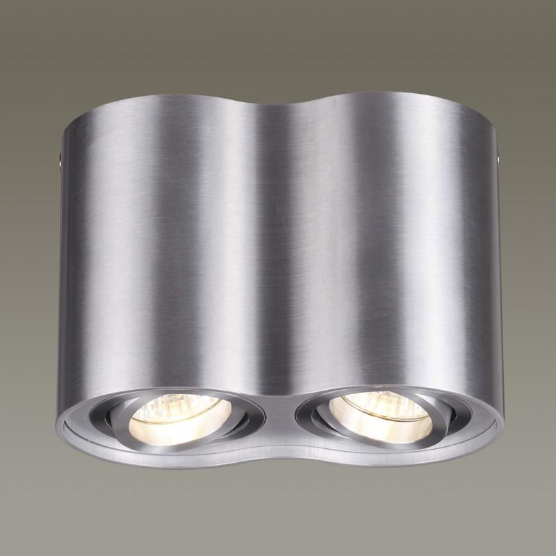 Odeon Light 3563/2C ODL18 115 матовый алюминий Потолочный накладной светильник IP20 GU10 2*50W 220V PILLARON клавиша смыва geberit sigma 50 белый хром 115 788 11 5