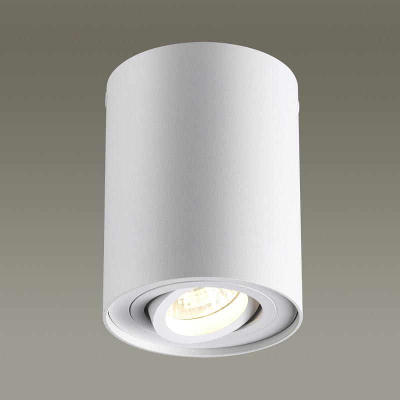 Odeon Light 3564/1C ODL18 115 белый Потолочный накладной светильник IP20 GU10 50W 220V PILLARON odeon light потолочный светильник odeon light pillaron 3564 2c