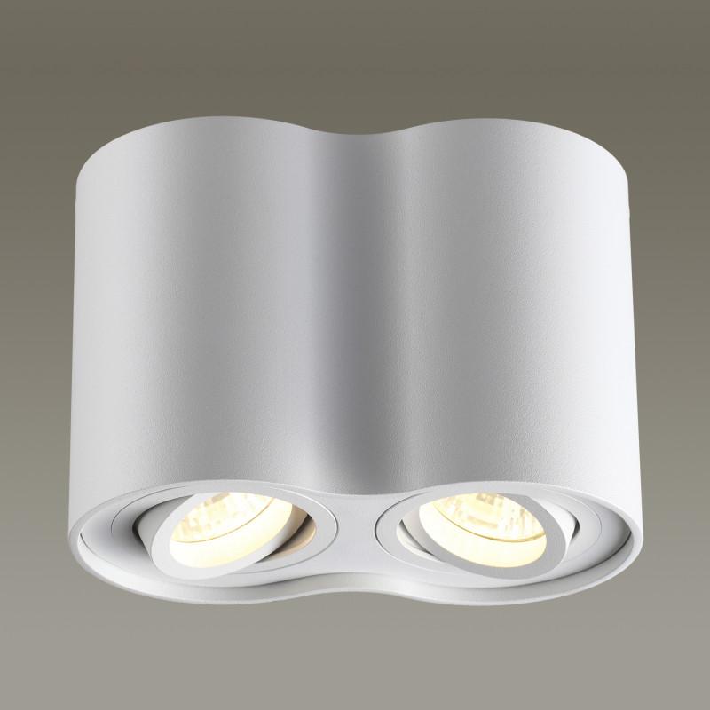 Odeon Light 3564/2C ODL18 115 белый Потолочный накладной светильник IP20 GU10 2*50W 220V PILLARON клавиша смыва geberit sigma 50 белый хром 115 788 11 5