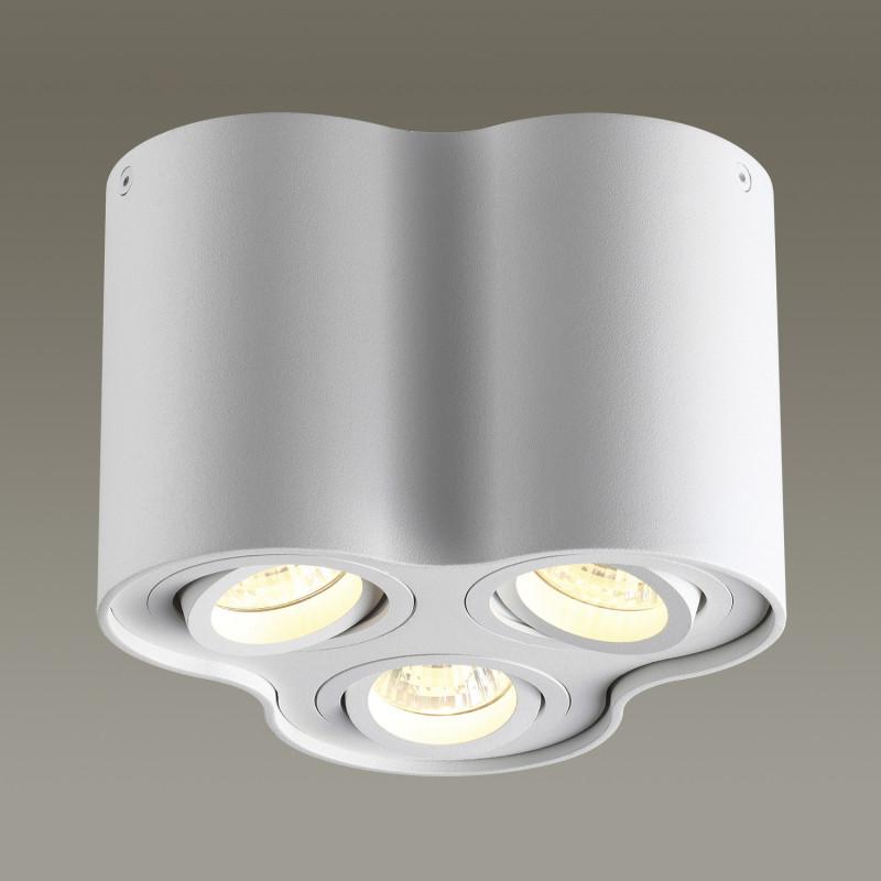 Odeon Light 3564/3C ODL18 115 белый Потолочный накладной светильник IP20 GU10 3*50W 220V PILLARON odeon light потолочный светильник odeon light pillaron 3564 2c