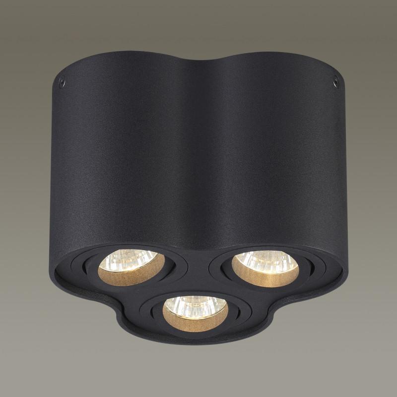 Odeon Light 3565/3C ODL18 115 черный Потолочный накладной светильник IP20 GU10 3*50W 220V PILLARON odeon light потолочный светильник odeon light pillaron 3565 2c