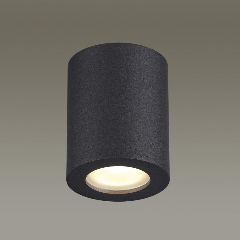 Odeon Light 3572/1C ODL18 119 черный Потолочный накладной светильник IP44 GU10 50W 220V AQUANA mantra 3572
