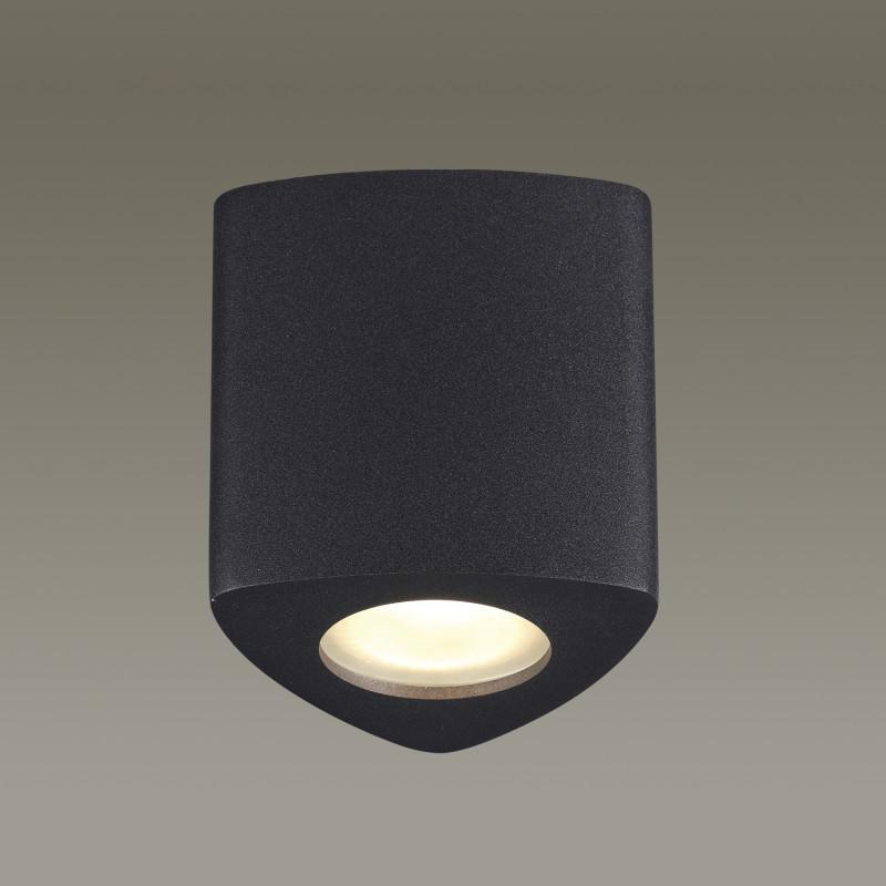 Фото Odeon Light 3575/1C ODL18 118 черный Потолочный накладной светильник IP44 GU10 50W 220V AQUANA. Купить с доставкой