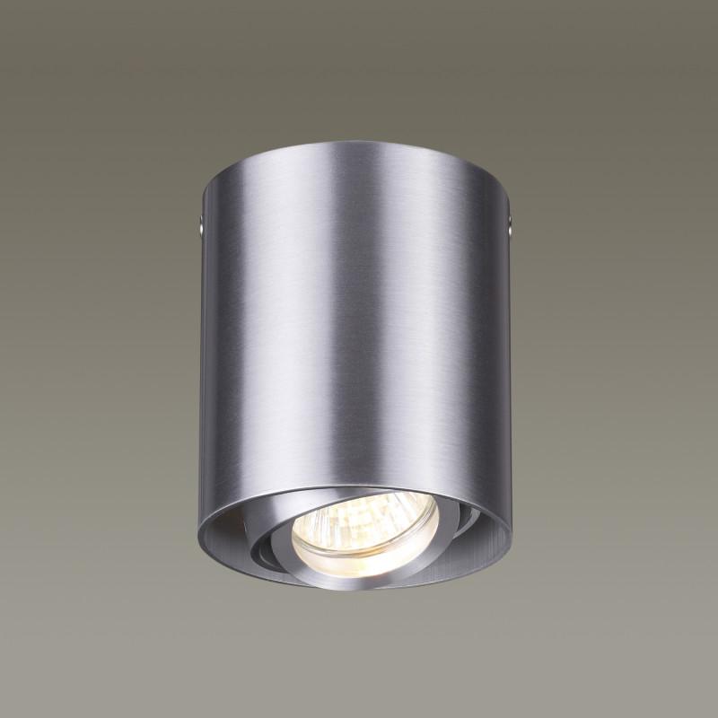 Odeon Light 3576/1C ODL18 121 матовый алюминий Потолочный накладной светильник IP20 GU10 50W 220V MONTALA потолочный светильник odeon light montala 3576 1c