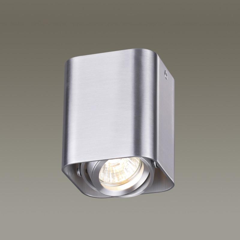 Odeon Light 3577/1C ODL18 120 матовый алюминий Потолочный накладной светильник IP20 GU10 50W 220V MONTALA потолочный светильник odeon light montala 3576 1c