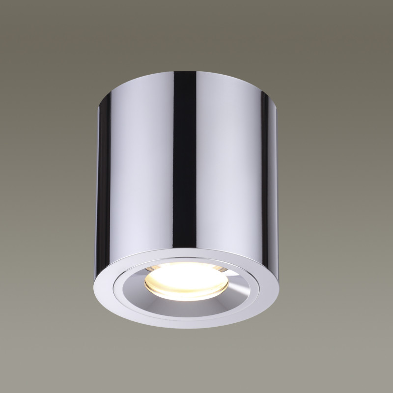 Odeon Light 3584/1C ODL18 126 хром Потолочный накладной светильник IP44 GU10 50W 220V SPARTANO mustang 3584 5740 052