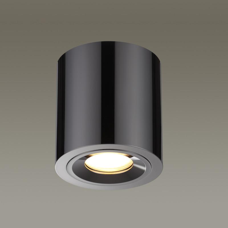 Odeon Light 3585/1C ODL18 126 черненый хром Потолочный накладной светильник IP44 GU10 50W 220V SPARTANO