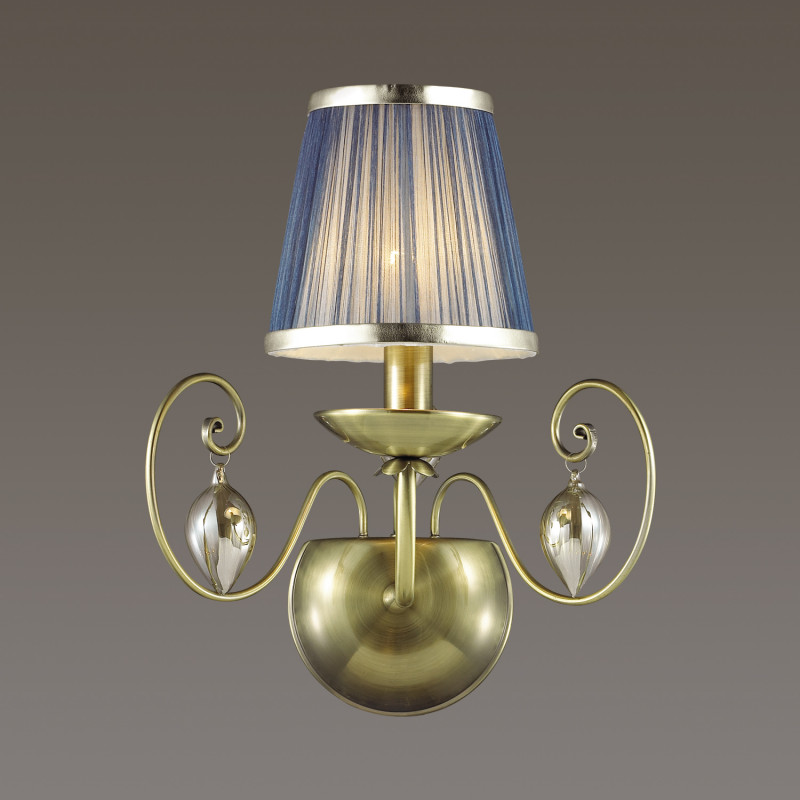 Odeon Light 3921/1W ODL18 357 бронза/ткань/стекло Бра IP20 E14 40W 220V NIAGARA spine lady 357 40