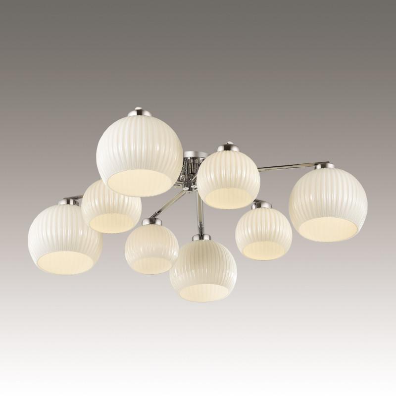 Odeon Light 3971/8C ODL18 149 хром/белый Люстра потолочная IP20 E27 8*60W 220V MICCA odeon light потолочная люстра odeon light micca 3971 6c