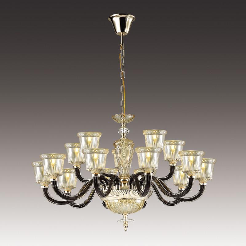 Odeon Light 4000/15 ODL18 289 зол/черный/шампань Люстра IP20 E14 15*40W 220V GIOVANNI