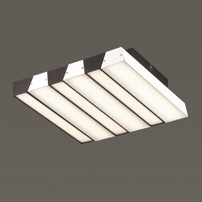 Odeon Light 4015/46CL ODL18 015 черн/белый Люстра потолочная IP20 LED 46W 220V PIANO odeon light 4014 99al odl18 016 черн белый люстра ip20 led 131w 220v piano