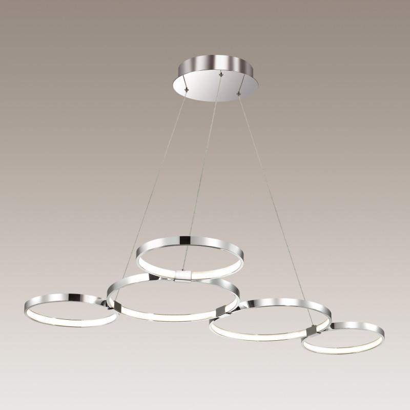 Odeon Light 4016/50L ODL18 032 хром/белый Люстра IP20 LED 50W 220V OLIMPO